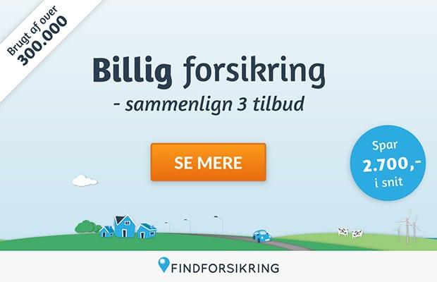 Find billigere forsikring med Findforsikring.dk uforpligtende og gratis