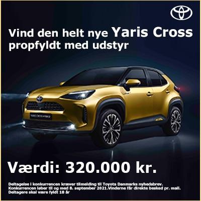 Vind den nye Yaris Cross til en værdi af +320.000 kr. Your Tracking Link